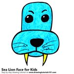 How to Draw a Sea Lion Face for Kids