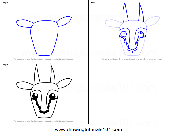 how to draw a face step by step printable