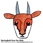 How to Draw a Springbok Face for Kids