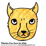 How to Draw a Tibetan Fox Face for Kids