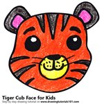 How to Draw a Tiger Cub Face for Kids