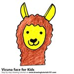 How to Draw a Vicuna Face for Kids