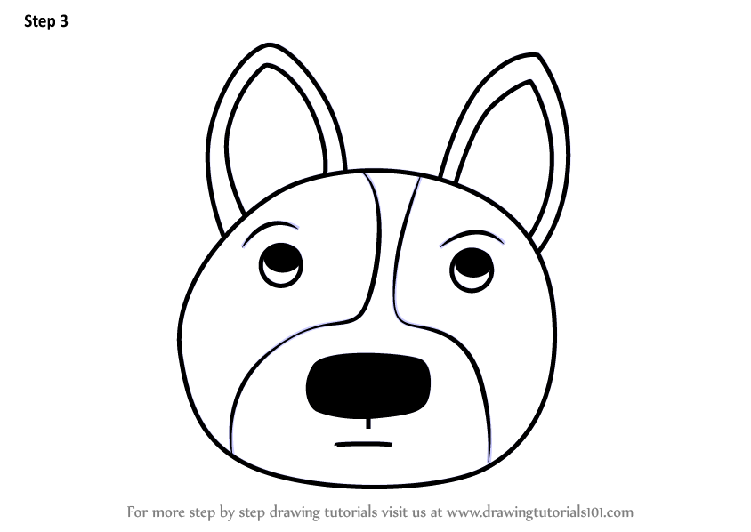 Learn How To Draw A Welsh Corgi Dog Face For Kids Animal Faces