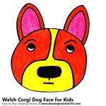 How to Draw a Welsh Corgi Dog Face for Kids