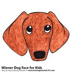 How to Draw a Wiener Dog Face for Kids
