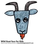 How to Draw a Wild Goat Face for Kids
