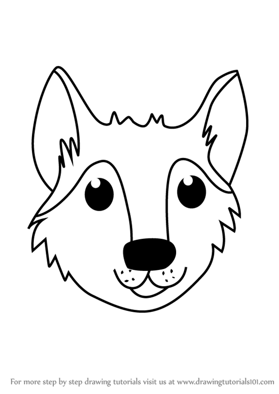 learn how to draw a wolf face for kids  animal faces for