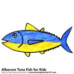 How to Draw an Albcore Tuna Fish for Kids