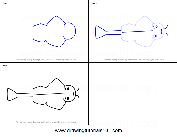 how to draw an angel shark for kids printable step by step drawing Sliding Door Gate how to draw an angel shark for kids printable step by step drawing sheet drawingtutorials101 com