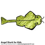 How to Draw an Angel Shark for Kids