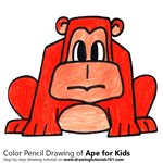 How to Draw an Ape for Kids