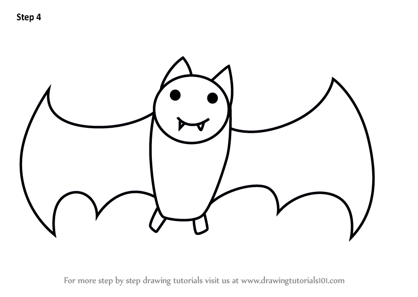 learn how to draw a bat for kids animals for kids step by step