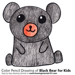 How to Draw a Black Bear for Kids
