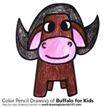 How to Draw a Buffalo for Kids