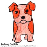 How to Draw a Bulldog for Kids