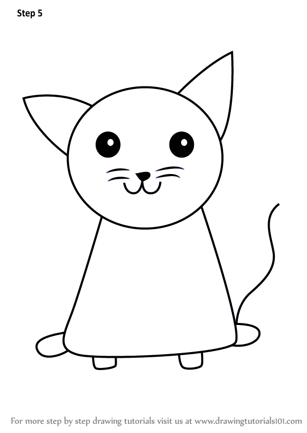 Learn How to Draw a Cat for Kids (Animals for Kids) Step ...