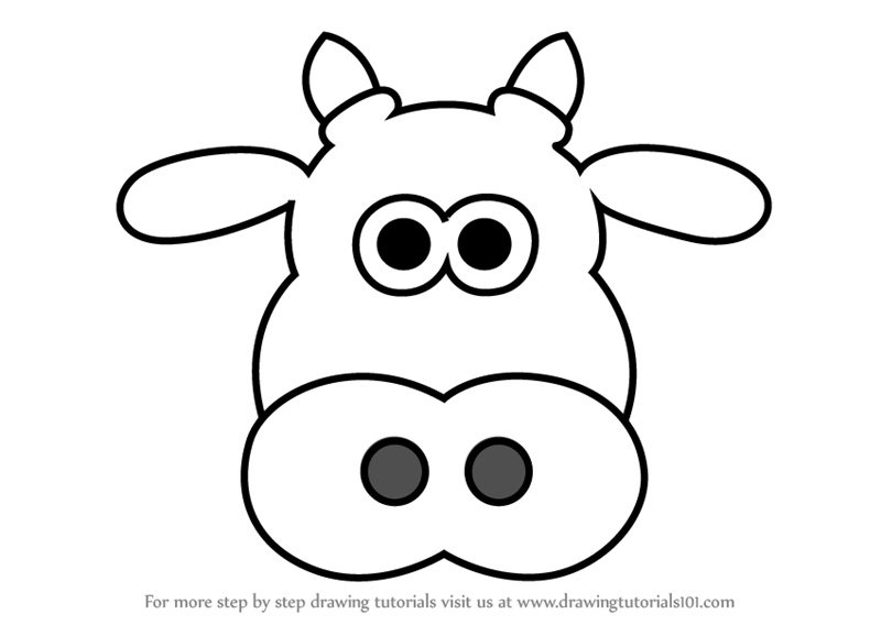 How to draw a cow clipart how to draw a cow cartoon cow for Learn to draw cartoons step by step lessons