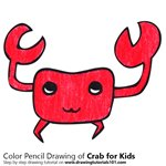 How to Draw a Crab for Kids