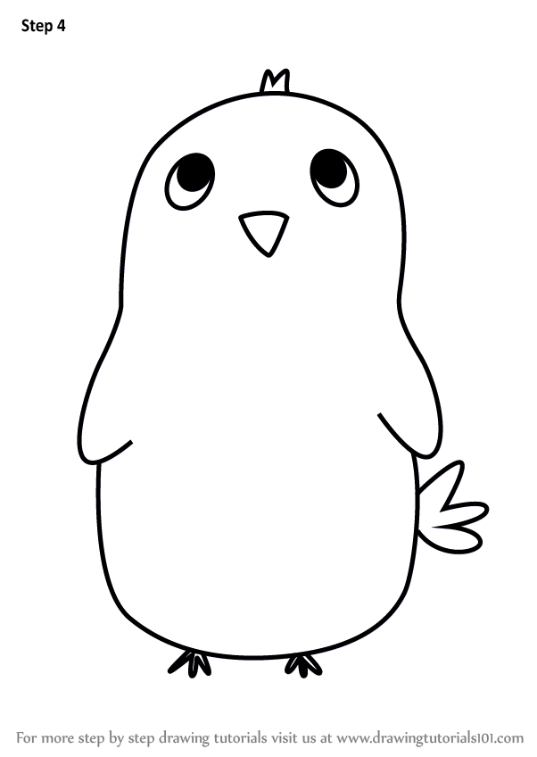 Learn How To Draw A Cute Bird For Kids Animals For Kids Step By Step Drawing Tutorials