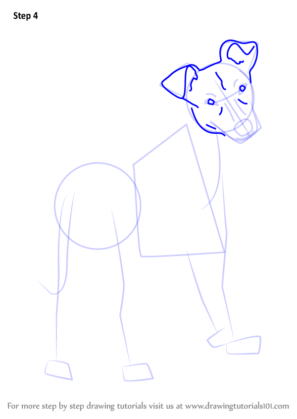 how to draw a dog step by step cute