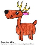How to Draw a Deer for Kids