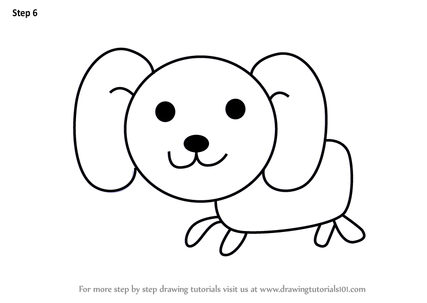 Learn How To Draw A Dog For Kids Animals For Kids Step By Step