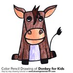 How to Draw a Donkey for Kids