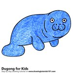 How to Draw a Dugong for Kids