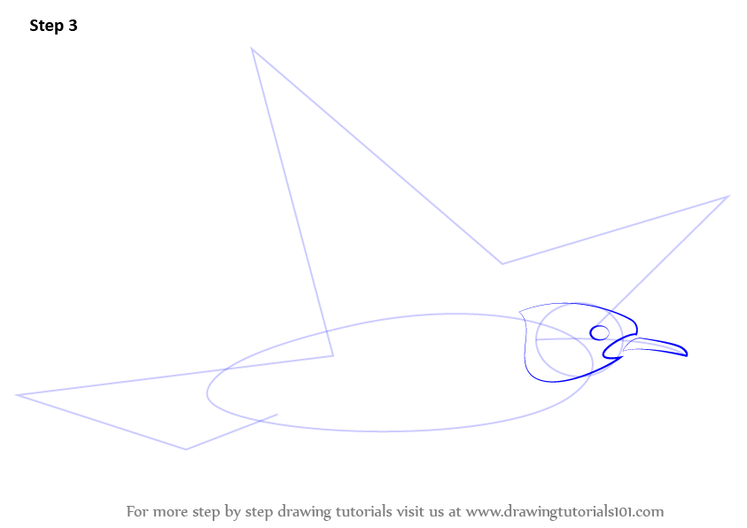 Learn How to Draw a Flying Bird for Kids (Animals for Kids ...  Flying Birds Drawing For Kids