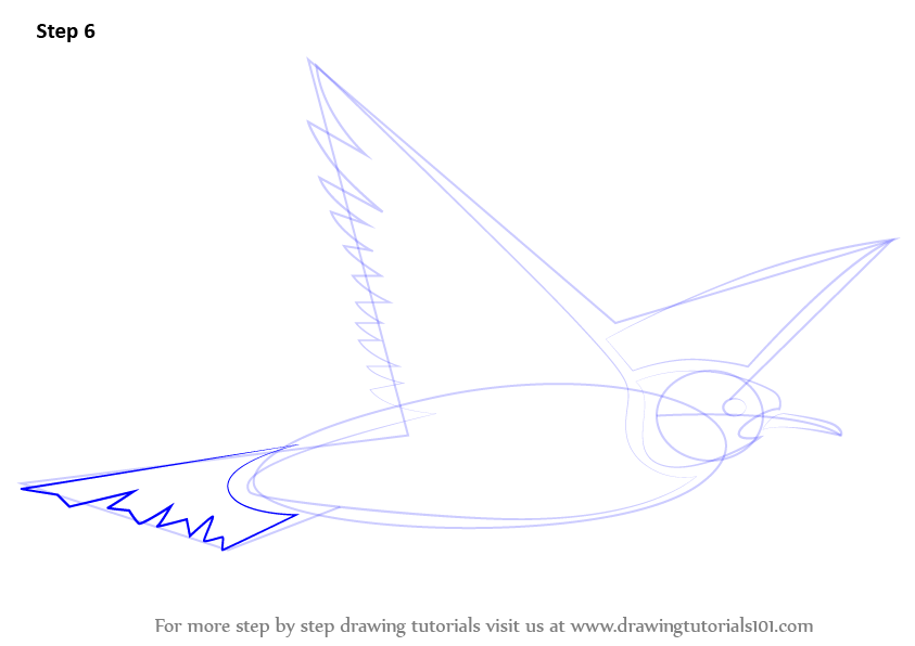 Step by Step How to Draw a Flying Bird for Kids ... Flying Birds Drawing For Kids