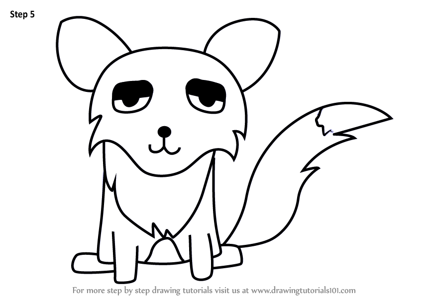 Learn How To Draw A Fox For Kids Animals For Kids Step By Step