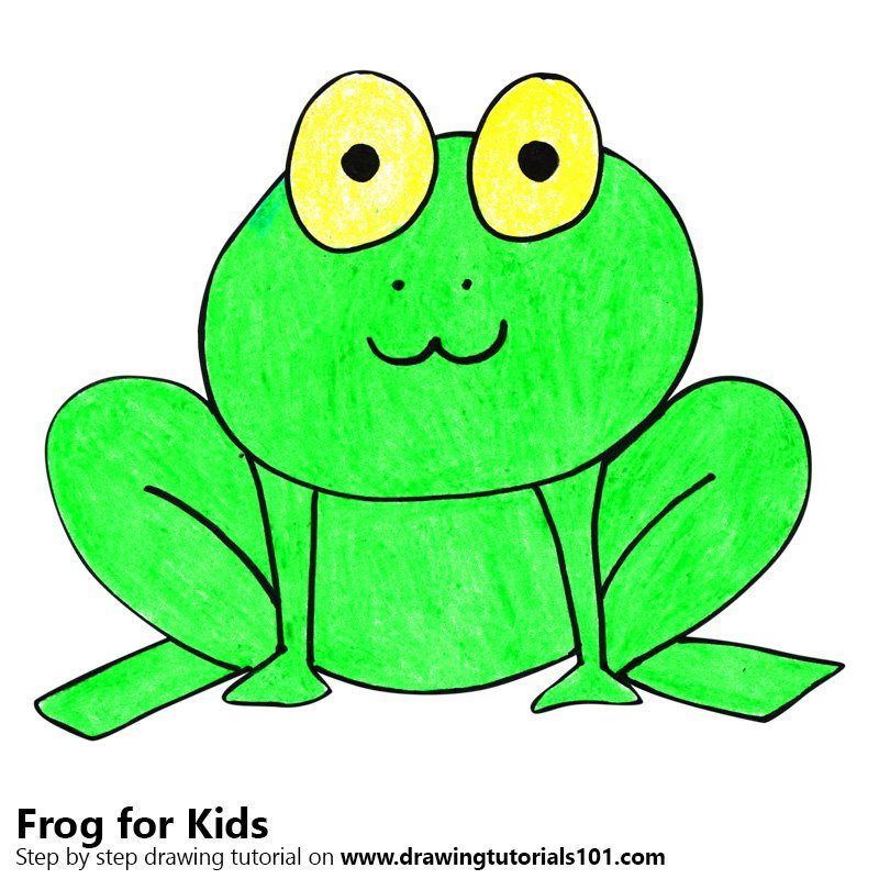 This is a picture of Stupendous Frog Drawing For Kids