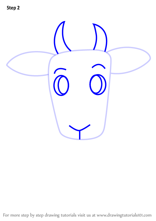 Learn How To Draw A Goat For Kids Easy Animals For Kids Step By