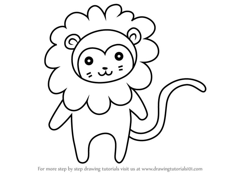 Learn How To Draw A Golden Lion Tamarin For Kids Animals