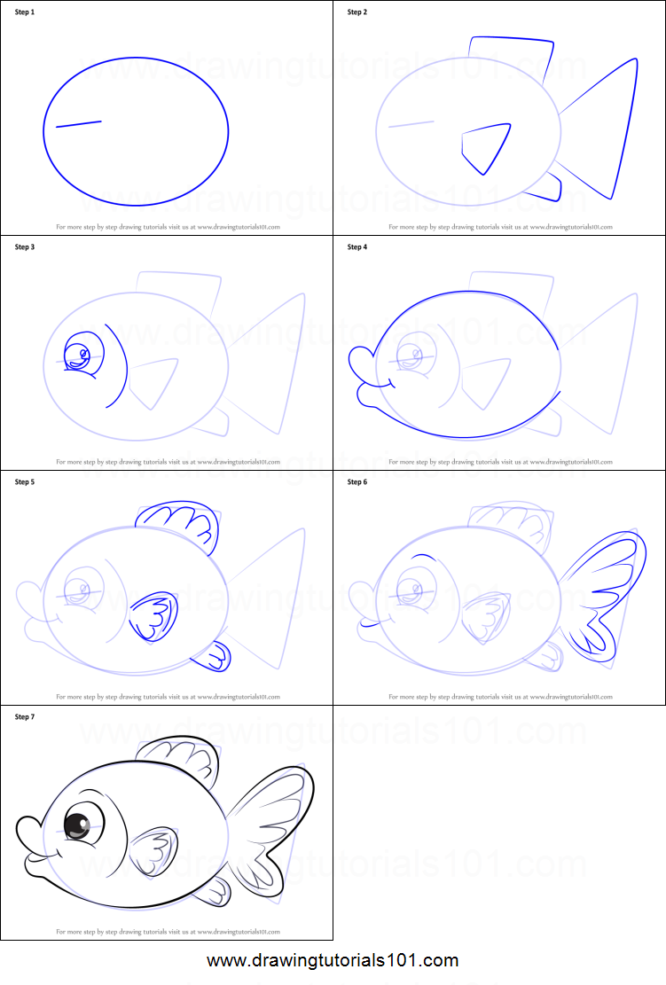 How to draw a goldfish 30