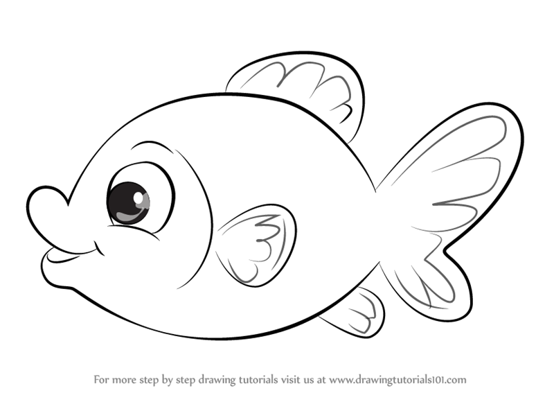 Learn How to Draw Goldfish Easy (Animals for Kids) Step by ...