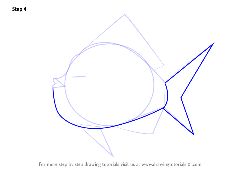 how to draw a fish tank step by step