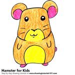 How to Draw a Hamster for Kids