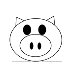 How to Draw a Happy Pig
