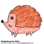 How to Draw a Hedgehog for Kids
