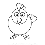 How to Draw Hen for Kids