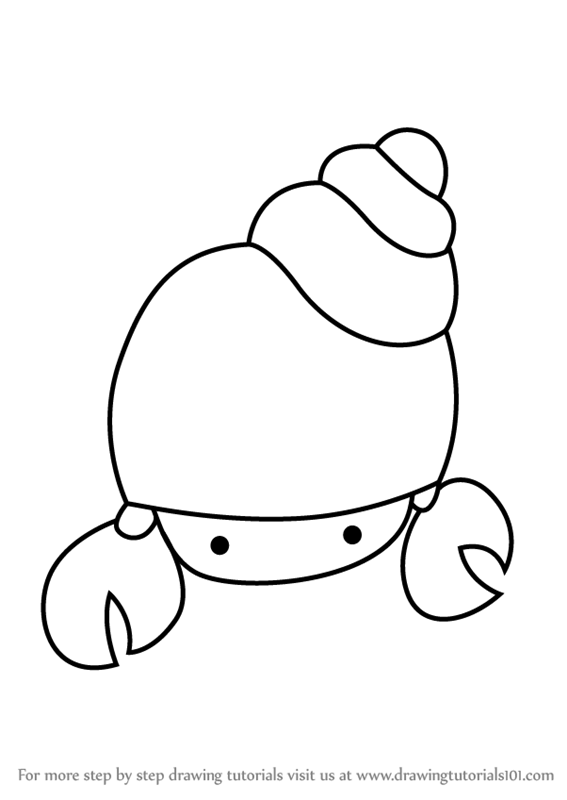learn how to draw a hermit crab for kids animals for kids