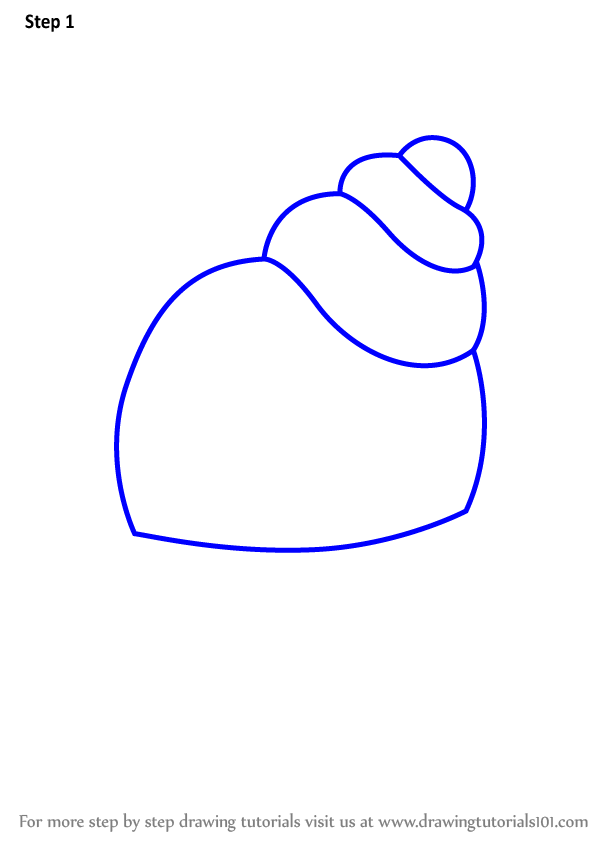 Learn How To Draw A Hermit Crab For Kids Animals For Kids Step By