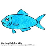 How to Draw a Herring Fish for Kids