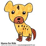 How to Draw a Hyena for Kids