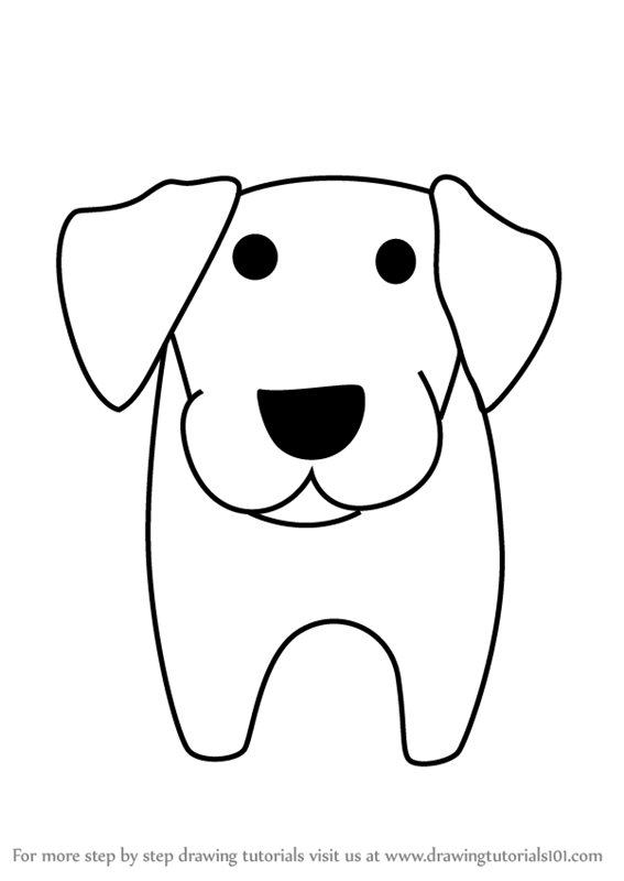 Learn How to Draw a Labrador Dog for Kids (Animals for ...