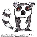 How to Draw a Lemur for Kids