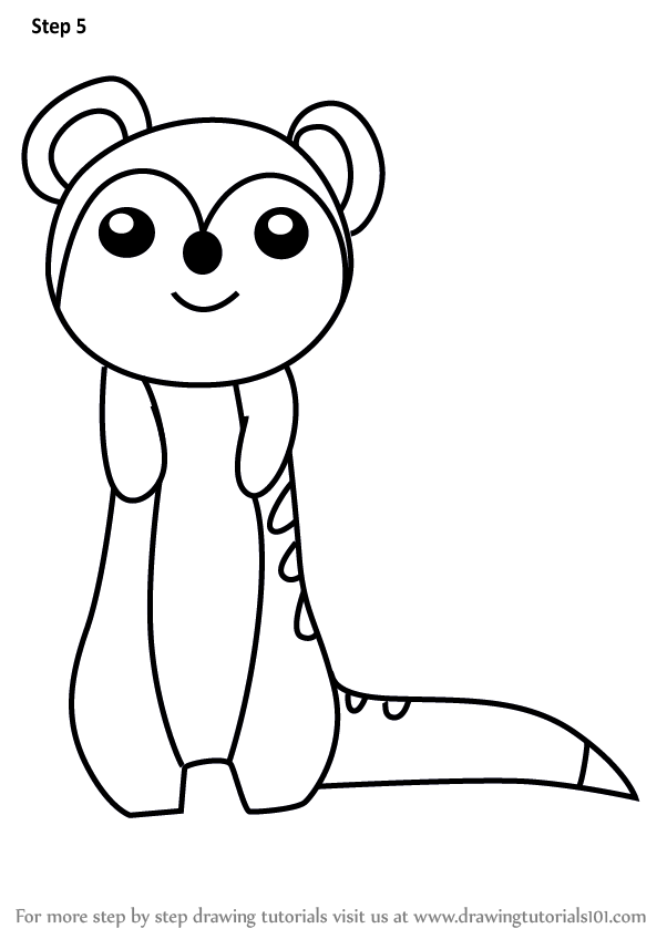 Learn How to Draw a Meerkat for Kids (Animals for Kids ...