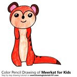 How to Draw a Meerkat for Kids