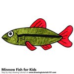 How to Draw a Minnow Fish for Kids